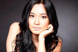 a portrait of a beautiful Kazakh woman