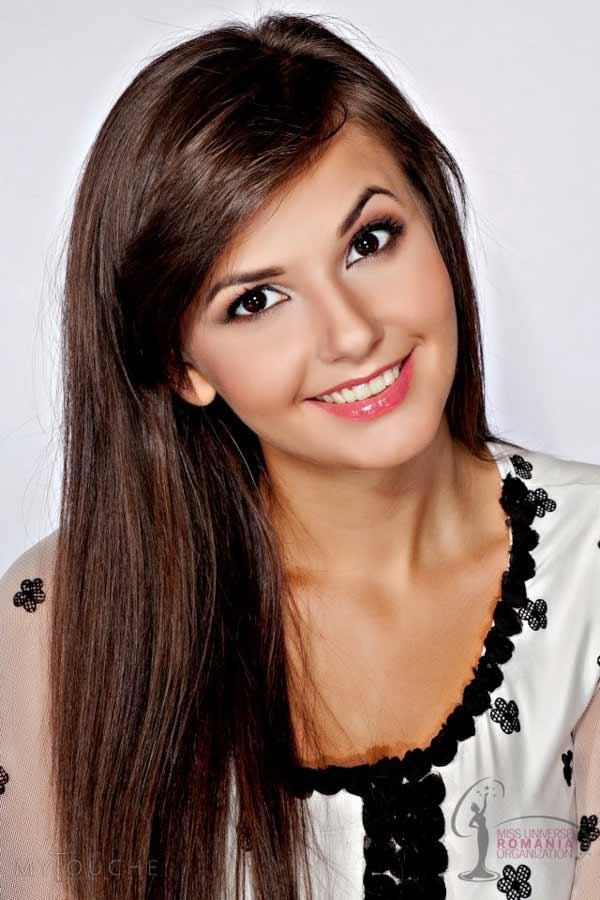a beautiful brunette Romanian woman
