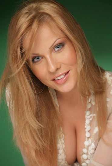 a hot fair-haired Romanian woman