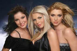 Three Romanian girls in black