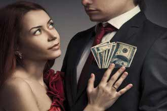 dating wealthy people notion