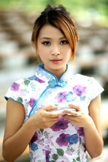 a light brown haired Chinese girl