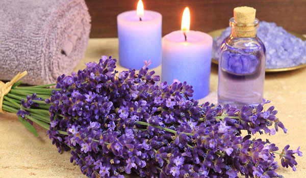 lavender oil with candles