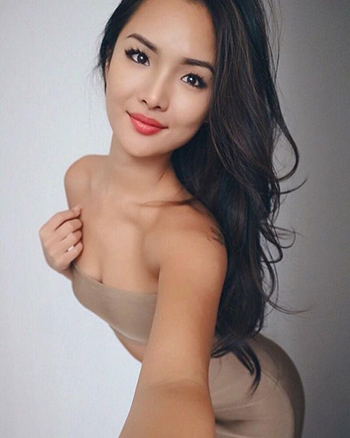 a gorgeous Asian young woman