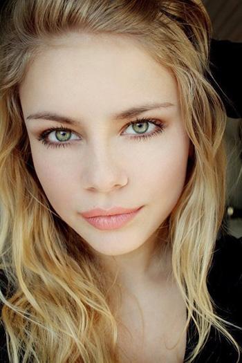 a stunning smiling blonde Belorussian girl