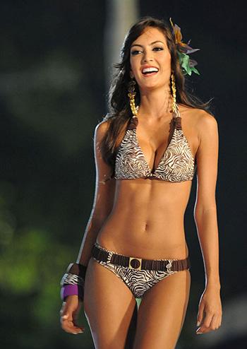 a beautiful Colombian model