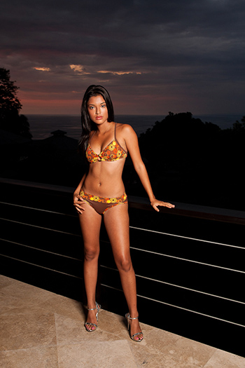 a stunning Costa Rican young woman