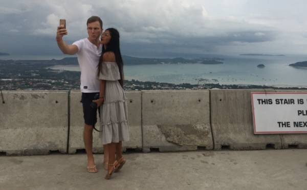 Man from Canada and girl from Phuket