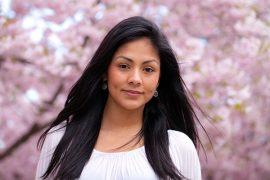 a beautiful Peru young woman