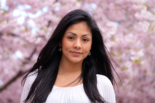 a beautiful Peru young woman