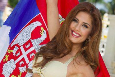 a beautiful Serbian woman