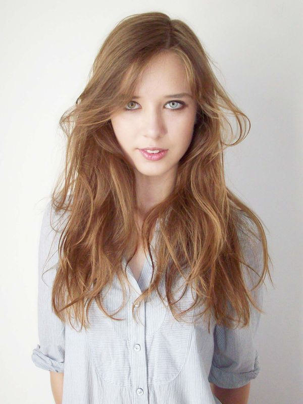 A Polish GIRL WITH WAVY HAIR