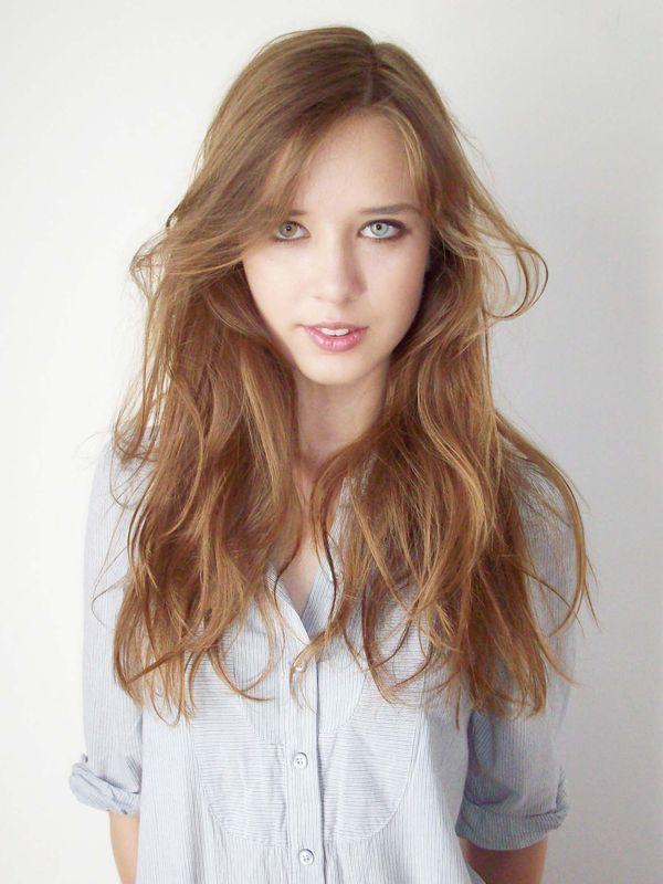 A Polish GIRL WITH WAVY HAIR