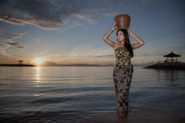Indonesian Girl at Sunrise