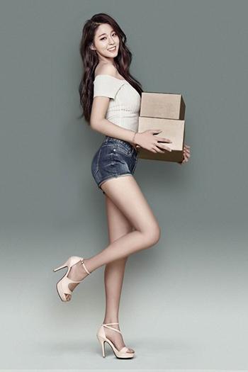 a model-looking Korean girl