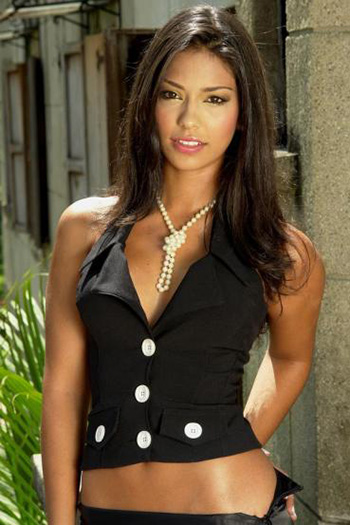 a Colombian woman in black