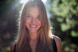 a beautiful Latvian girl's portrait