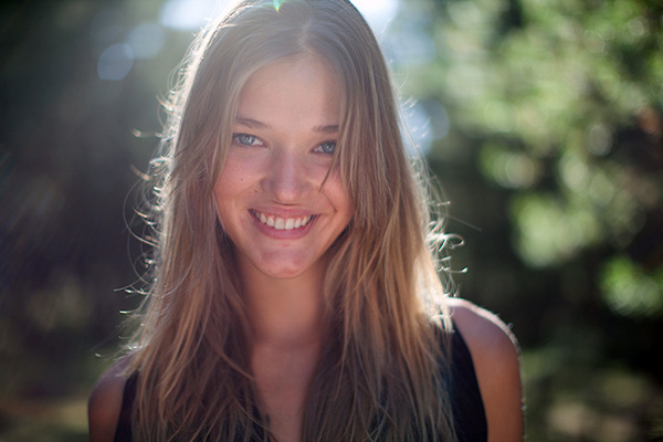 a beautiful Latvian girl's portrait