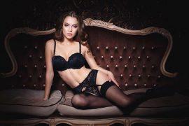 a beautiful Lithuanian woman in black