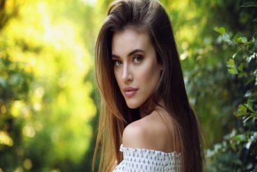 a stunning Venezuelan young woman