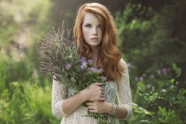 a beautiful red-haired Estonian girl