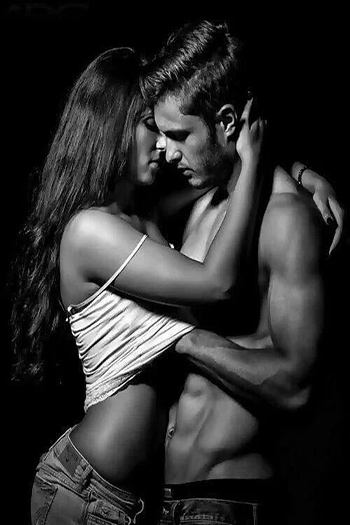 couple hugging passionately
