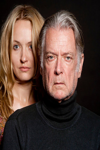 a young blond woman and an older man