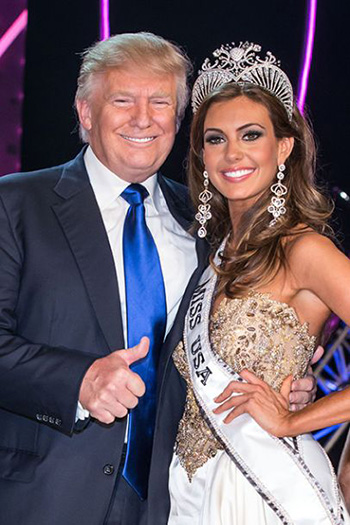 Donald Trump with Miss USA
