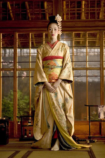 A geisha from movie Memoirs of a Geisha