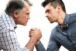 old man versus young man