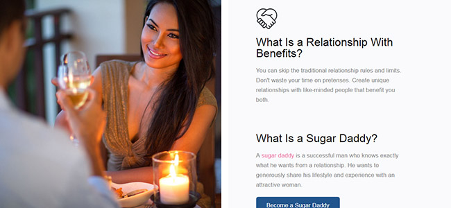 Online dating sugar