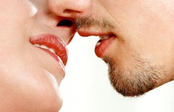 couple ready to kiss