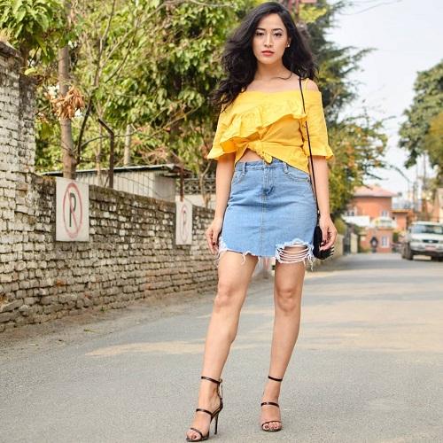 Nepalese girl fall