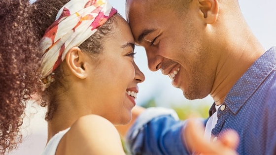 african couple romantic guy